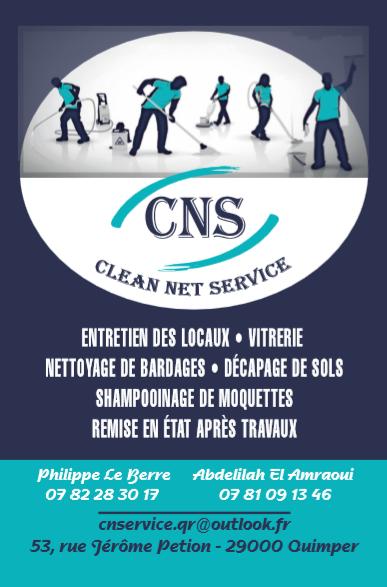 Flyer entreprise de nettoyage Clean Net Service Quimper
